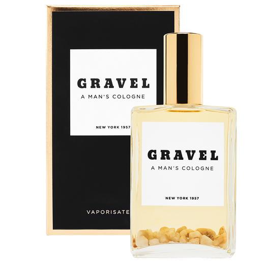 Eau de Parfum Gravel Spray, 100 ml Transparent. Fort. Épicé. Minéral. Seul l'original possède des galets bien réels dans la bouteille.