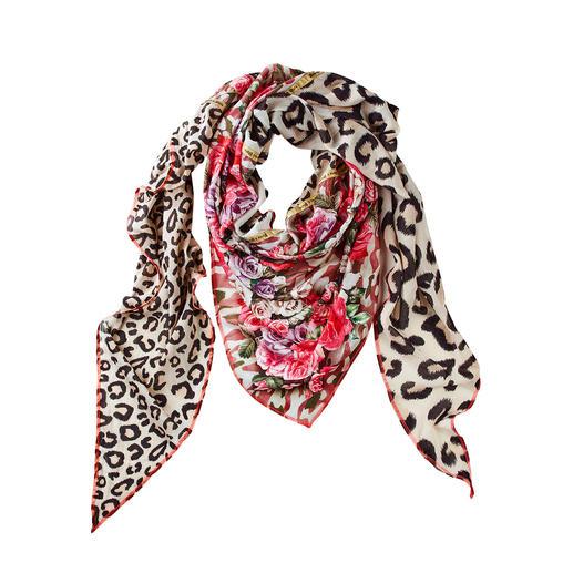 Foulard triangulaire XXL PlomooPlata Imprimé léopard, floral & camouflage : le foulard triangulaire XXL regroupe les motifs tendances de la saison.