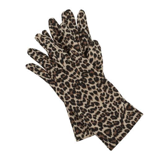 Gants en fibre polaire Ixli, imprimé animal Imprimé animal au lieu d'être unis et ennuyeux. Gants en fibre polaire de Ixli, France.
