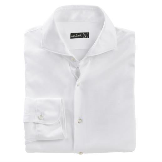 Chemise en jersey swiss+cotton van Laack Aussi soignée qu'une chemise d'affaires luxueuse. Aussi confortable qu'un t-shirt décontracté. Par van Laack.