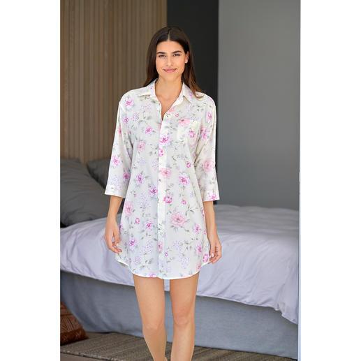 Chemise de nuit Flowers Ralph Lauren Peu de chemises de nuit sont aussi élégantes. Batiste aérée en coton et viscose. De Ralph Lauren.