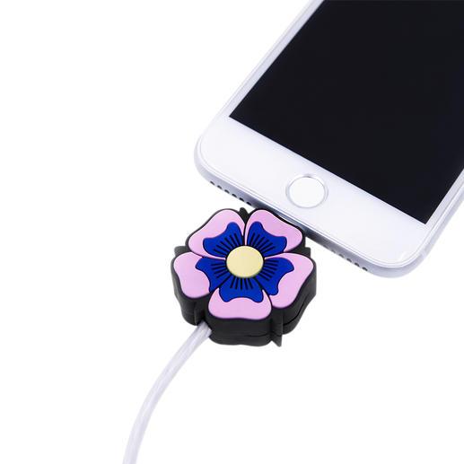 Câble à motif et LED, Flower Power Le cadeau parfait pour tous les fans d'Apple : le câble de charge à motif avec éclairage. De Iphoria.