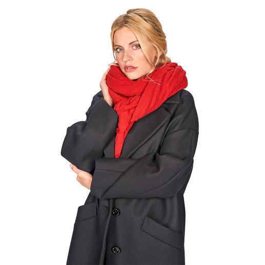 Foulard cachemire Pin 1876 Tradition italienne de la laine depuis 1876 : le foulard de cachemire en jersey extrêmement doux.