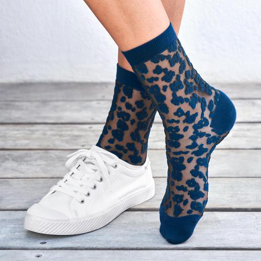 Chaussettes léopard ELBEO Les chaussettes en nylon tendance au motif léopard – de la plus ancienne marque de bas au monde : ELBEO.