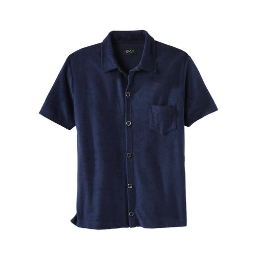 Chemise en éponge à manches courtes Howlin' Un confort qui relève du miracle : la chemise en éponge veloutée. Respirante et absorbant l'humidité.