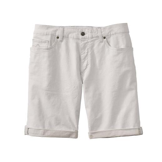 Short en lin et denim Alberto Plus aéré que les autres : le short en jean blanc cassé. Fait de denim et de lin.