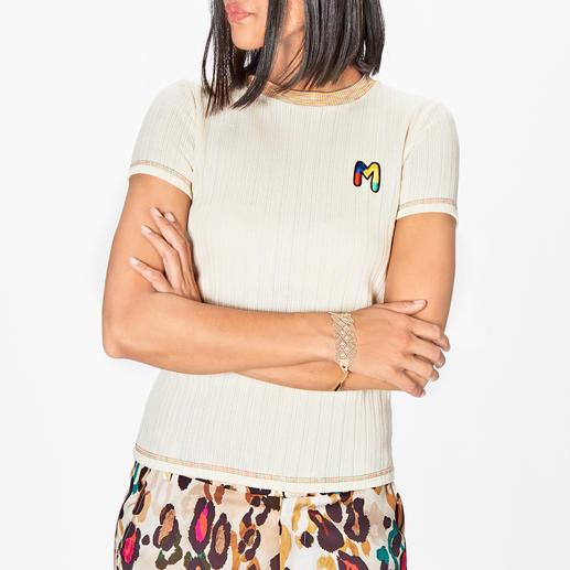 T-shirt basique en tricot M Missoni Le t-shirt basique de M Missoni : polyvalent, simple mais néanmoins unique.
