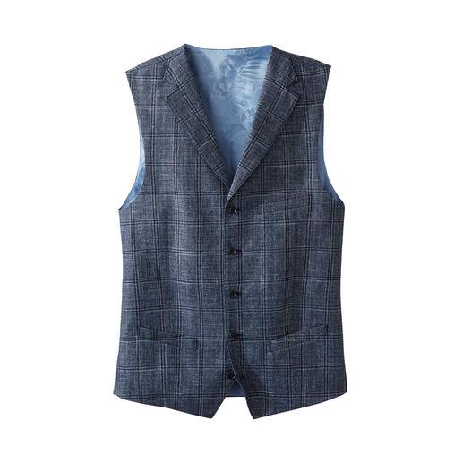 Gilet Carl Gross Ce gilet élégant et léger en laine vierge et lin est l'alternative parfaite.