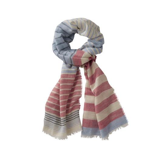 Foulard à rayures Lochcarron Le foulard à rayure en laine, soie et lin. De Lochcarron of Scotland. Matériau de qualité. Origine noble.