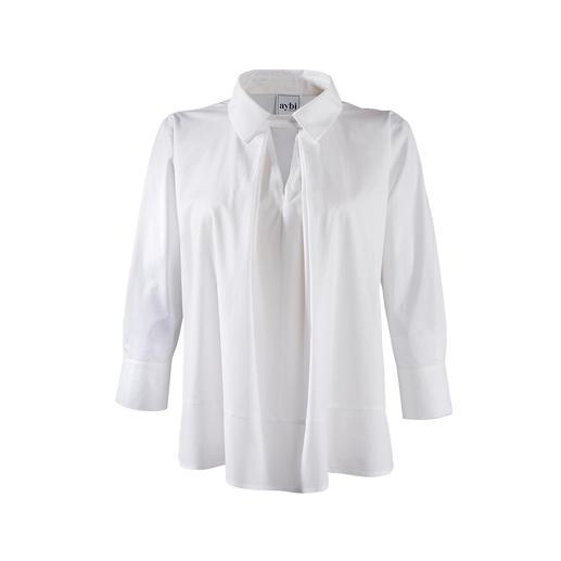 Blouse tunique aybi Tout sauf ennuyeuse : la blouse blanche classique basique à la réactualisation tendance.