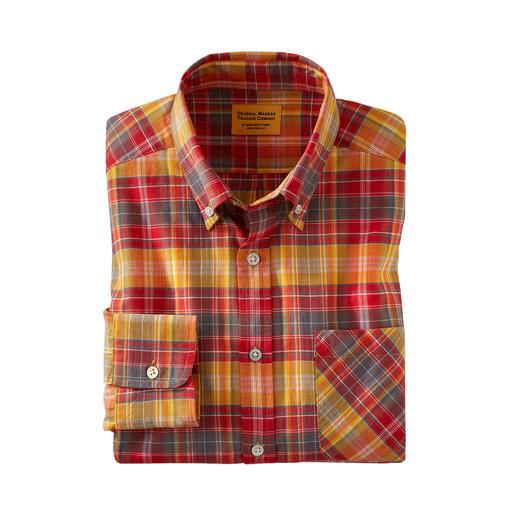 Chemise à carreaux madras OMTC La chemise madras originale – traditionnellement tissée à la main en Inde. De OMTC.