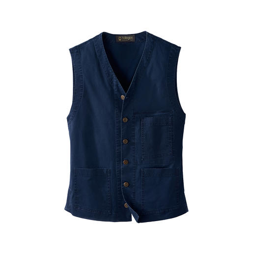 Gilet Lightweight Denim Hollington Design intemporel. Le véritable gilet Patric Hollington.
