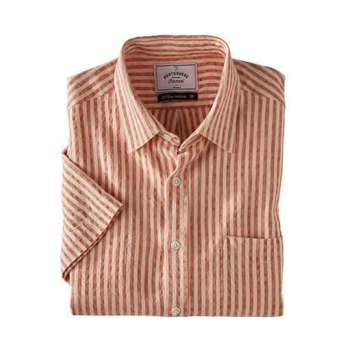 Chemise en seersucker Oxford Vous trouverez difficilement une chemise à manches courtes plus aérée. La chemise en seersucker lin et coton.