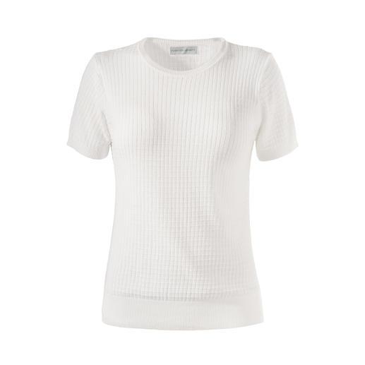 T-shirt en tricot Funktion Schnitt Les meilleurs basiques durent plus longtemps : le t-shirt en tricot de coton mako rare.