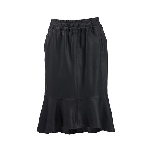 Jupe en cuir à volants Depeche Tendance : les jupes en cuir. Le meilleur rapport qualité/prix : le label danois Depeche.