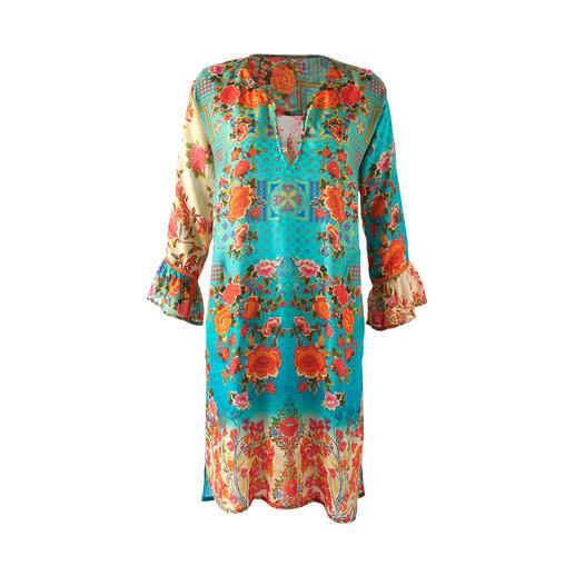 Robe tunique Lula Soul Style ethno noble et adulte. La tunique du célèbre label hippie et ethnique Lula Soul.