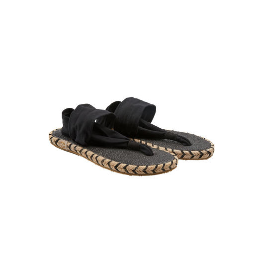 Sandales à entre-doigts de yoga Nalho La sandale à entre-doigts douce avec semelle « tapis de yoga ». De Nalho, Miami Beach.