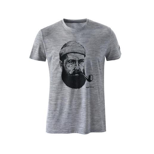 T-shirt à motif super.natural, homme La technologie textile de pointe rend ce t-shirt thermorégulateur et agréablement sec.
