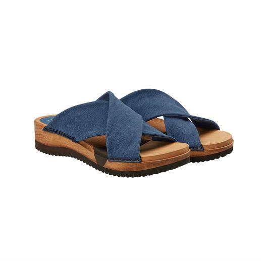 Mules en bois Sanita® Une sensation de bien-être pour vos pieds : des mules en bois tendance avec semelle flexible confortable.