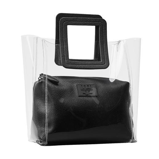 Sac transparent Ilse Jacobsen Aspect « rangé » grâce à la finition 2-en-1 avec pochette intérieure amovible.