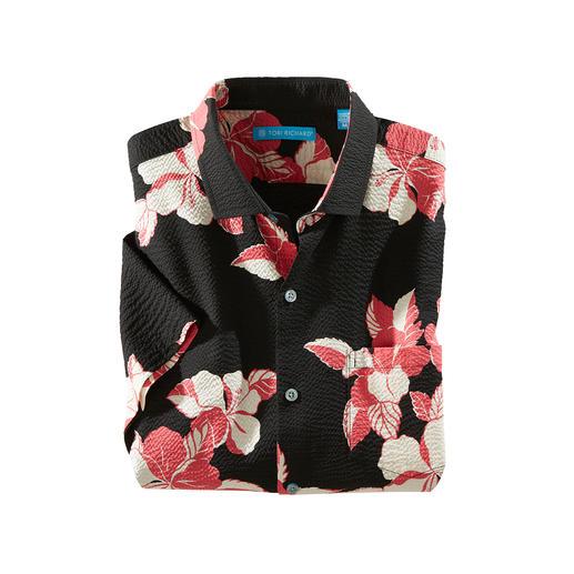 Chemise Hibiscus Aloha Désormais encore plus aérée : la chemise Aloha originale en coton crêpé.