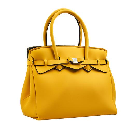 Look classique, matériau innovant, motif tendance : ce sac à main ultra léger ne pèse que 380 grammes. Look classique, matériau innovant, motif tendance : ce sac à main ultra léger ne pèse que 380 grammes.