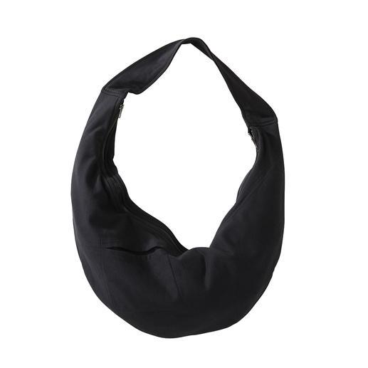 Jupe midi, Shirt ou Sac à bandoulière en jersey [schi]ess Un noir élégant. Du jersey doux. Une coupe décontractée et raffinée. Avec sac à bandoulière assorti.