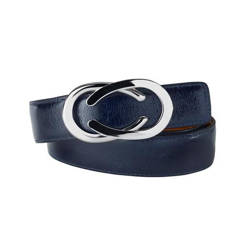 Ceinture réversible en cuir fripé Belts Nubuck verni fripé : aspect verni tendance noble et résistant. La ceinture réversible polyvalente de Belts.