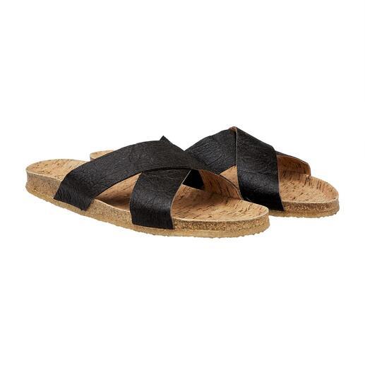 Sandales véganes La sandale végane avec voûte plantaire en liège confortable et semelle en caoutchouc souple et antidérapante.