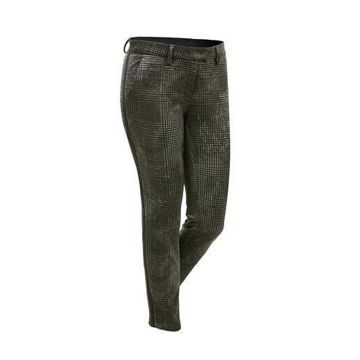 Pantalon chino à carreaux Mason's Parfaitement coupé pour la silhouette féminine : le pantalon chino au motif à carreau tendance.