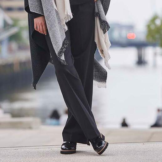 Pantalon Wide Leg Punto Milano TWINSET Coupe jambe large à la mode. Style masculin tendance. Jersey Punto Milano noble. Par TWINSET.