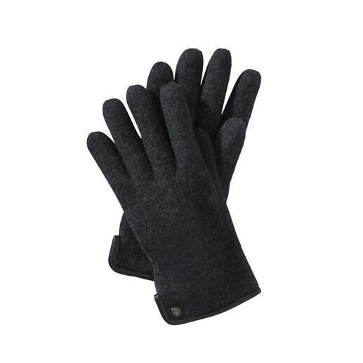 Gants en laine bouillie Roeckl, pour homme Beaucoup plus doux (et plus résistants aux intempéries) que les gants en laine normaux.