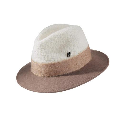 Chapeau fedora Raffaello Bettini Chapeau tricoté sportif ou chapeau feutre élégant ? Les deux à la fois ! Le fedora élégant et ajusté.
