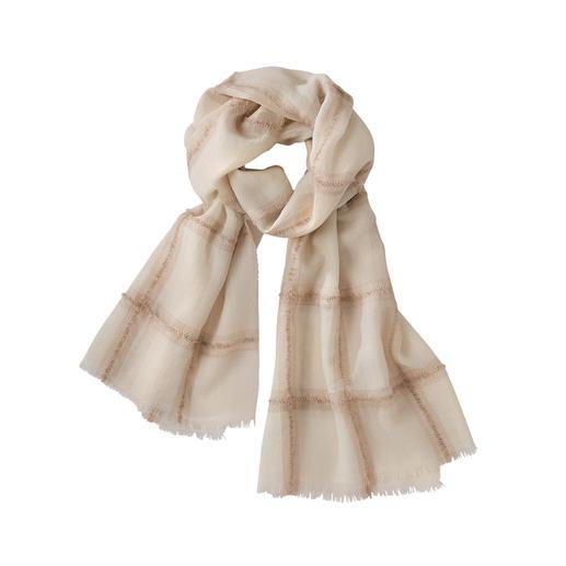 Châle bouclé alpaga Le châle léger, doux (et à l'élégance subtile) parmi les foulards à carreaux tendance.