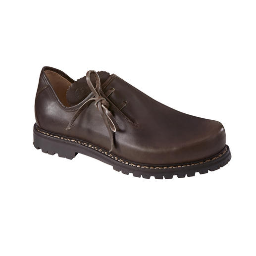 Chaussures bavaroises Haferl, femme, Brun Chaussures bavaroises originales. Avec une nouvelle semelle en caoutchouc Vibram® légère.