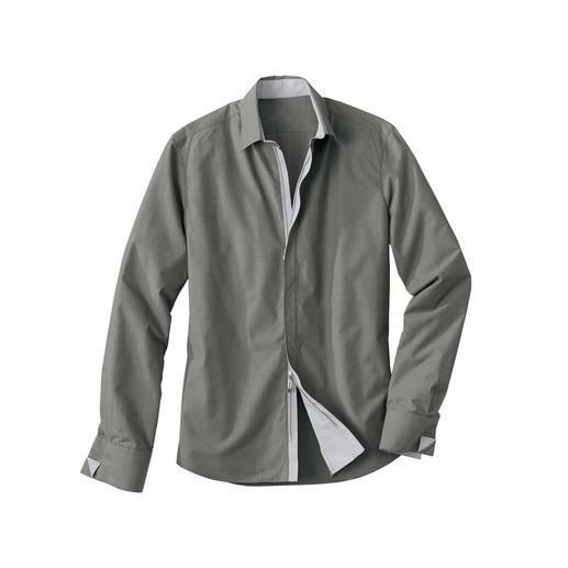 Chemise Zip-Off Coolmax Le confort de port du pur coton. Le confort climatique du Coolmax®. Par Hartwich.
