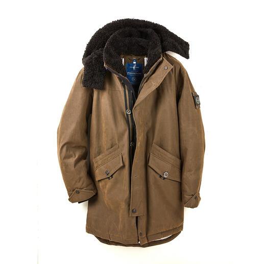 Parka tous temps Sailors& Brides Enfin une parka en coton aussi coupe-vent et imperméable qu'une veste technique.