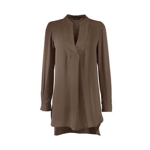 Tunique Janice & Jo Aussi noble qu'une blouse en soie mais aussi simple d'entretien qu'un t-shirt. La tunique de Janice & Jo.