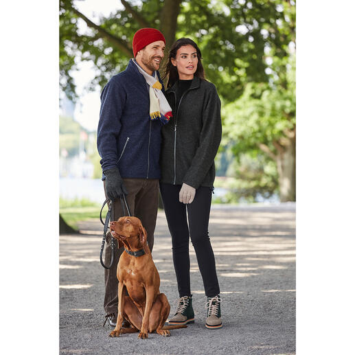 Veste en laine bouillie et Tencel®,  pour femme Votre veste d'extérieur probablement la plus confortable : totalement imperméable.