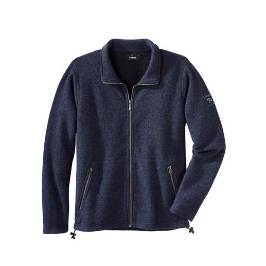 Veste en laine bouillie et Tencel®, pour homme Votre veste d'extérieur probablement la plus confortable : totalement imperméable.