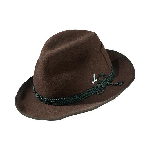 Chapeau Traveller en feutre Mühlbauer Votre chapeau élégant et polyvalent pour le quotidien : feutre de laine léger. Bord large. Forme Traveller.