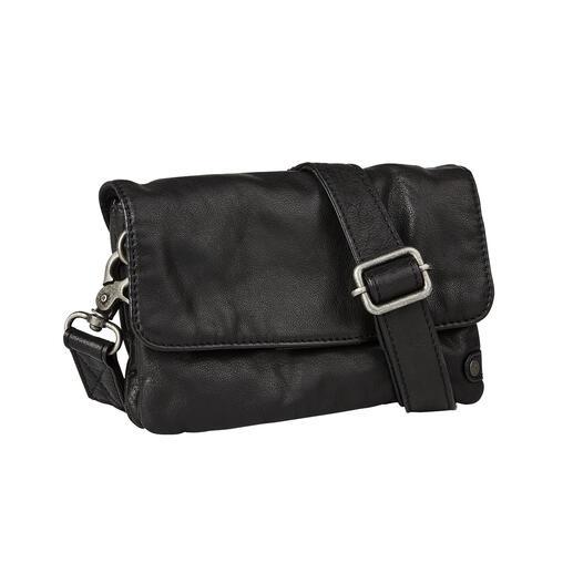 Mini Bag 2 en 1 Depeche Malette vintage en journée. Sac à bandoulière décontracté en soirée. Du spécialiste danois du cuir Depeche.