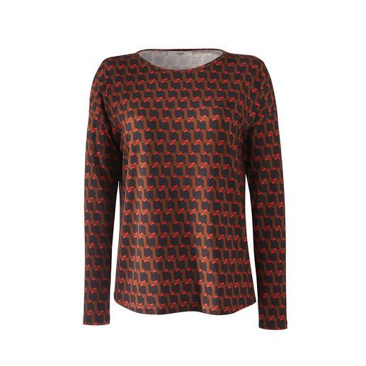 Jupe ou Shirt en jersey Panel Imprimé tendance. Élégance féminine. Tout en étant aussi facile d'entretien et confortable qu'un t-shirt.