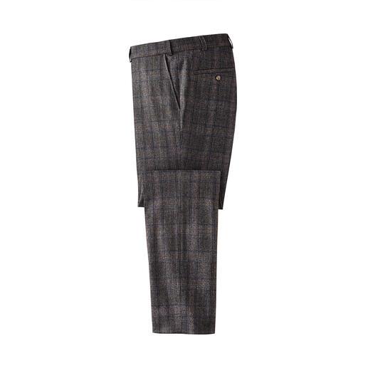 Pantalon à carreaux et cachemire Motif pied-de-poule actualisé : modernisé avec des couleurs tendance et raffiné avec du cachemire.