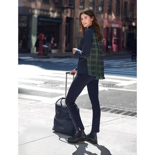 Chemise plissée vanLaack Plus féminine et élégante que la plupart : la chemise à dos plissé.
