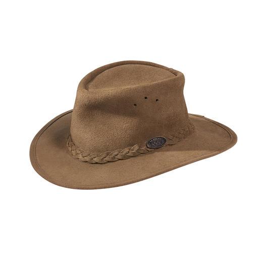 Chapeau de brousse en suède Rogue L'original d'Afrique du Sud : le chapeau de brousse classique pour homme et femme.