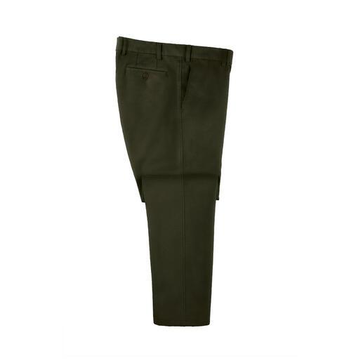 Five-Pocket Moleskin Rare trouvaille : le pantalon d'hiver en moleskine. Tissu velouté et quasiment coupe-vent. En coton respirant.