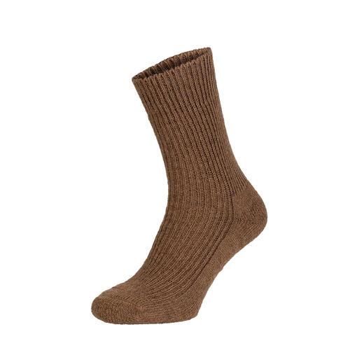 Chaussettes poils de chameau Le luxe des chaussettes en véritable poil de chameau : incroyablement douces. Extrêmement robustes.