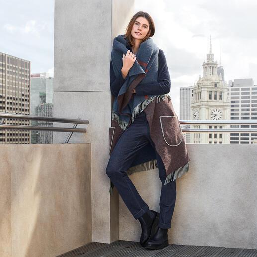 Veste poncho T-Jacket La veste poncho extravagante en pure laine vierge. De T-Jacket.