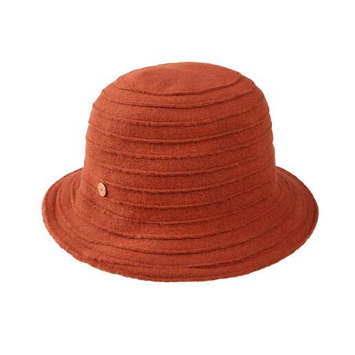 Chapeau de laine nervuré Mayser Confortablement extensible. Froissable. Et pourtant aussi élégant qu'un chapeau en laine noble.
